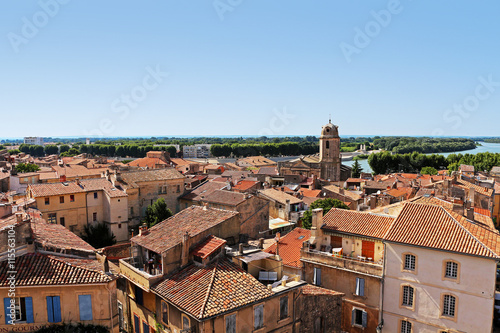 view above old town Arles in Southern France Wallpaper Mural