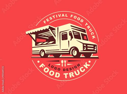 Fotografía Logo of food truck