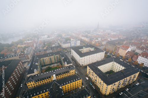 Photo  Foggy view from the tower of the Church of Our Saviour, in Chris