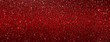 canvas print picture - red glitter texture abstract banner background
