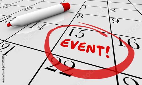 Valokuva Event Party Celebrate Celebration Calendar Day Date 3d Illustrat