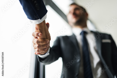 Fotografie, Obraz  Handshake Business Men Concept