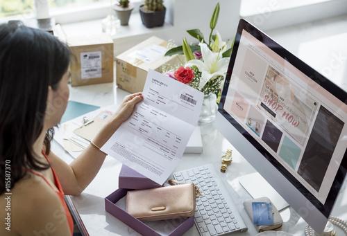 Valokuva  Women Shopping Online Shopaholics Purchase Concept