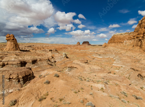 Valokuva  Scenic landscape view of Goblin Valley State Park in Utah
