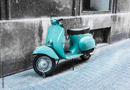 Foto op Canvas Scooter Roller Vintage Retro
