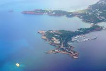 Aerial View Of The Astir Peninsula In Vouiagmeni Near Athens