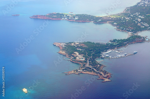 Fotografie, Obraz  Aerial view of the Astir Peninsula in Vouiagmeni near Athens