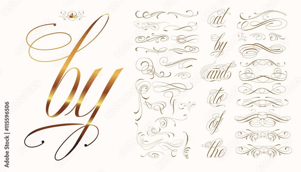 Fototapety, obrazy: Calligraphic tattoo set