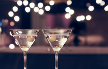 Pair Of Martini Glasses On Res...