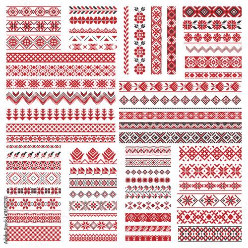 Obraz na płótnie Big set of embroidery patterns