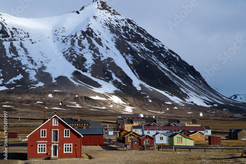 Canvas Prints Pole ny alesung in the svalbard island near north pole