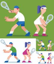 Tennis / Flat Design Illustrat...