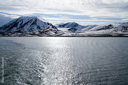 Papiers peints Pôle svalbard view of the landscape during the summer season view of the glaciers