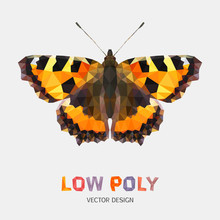 Low Poly Design Of Butterfly. ...