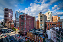View Of Buildings Along Light Street, In Downtown Baltimore, Mar