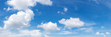 Fototapeta Na sufit - Vibrant color panoramic sky with cloud on a sunny day.