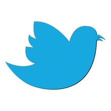 Social Bird Icon On Background...