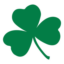 Green Shamrock Leave Icon Isol...