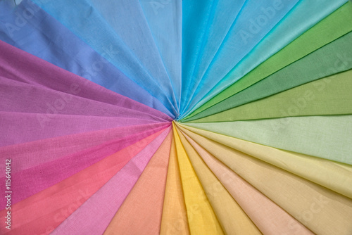 Tuinposter Stof multi color fabric texture samples