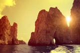 Fototapeta Sunset - Faraglioni Cliffs in Capri - Italy, Europe