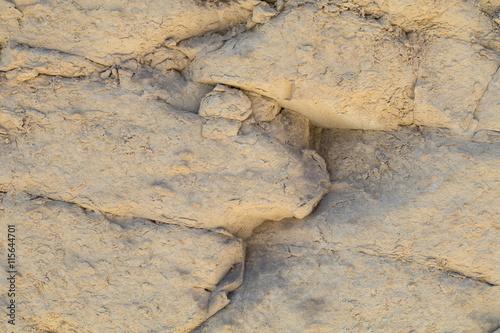 Photo  Weathered Globerigina Limestone, City Walls of Valletta, Malta