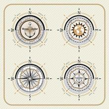 Nautical Vintage Compass Set