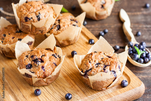 Blueberry muffins Canvas-taulu