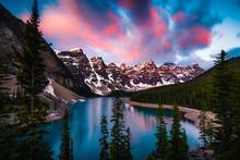 Moraine Lake In Banff, Alberta...