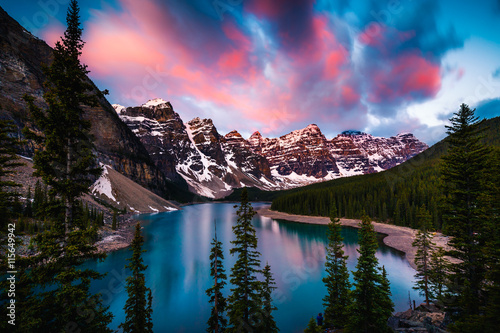 Wall Murals Lake Moraine Lake in Banff, Alberta, Canada