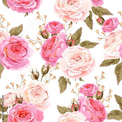 Tapety Retro  angielskie-roze-bez-szwu
