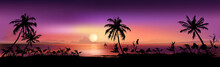Tropical Sunset Background