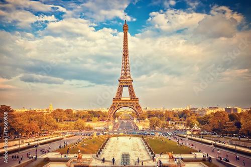 Photo  Eiffel Tower at summer sunny evening, Paris