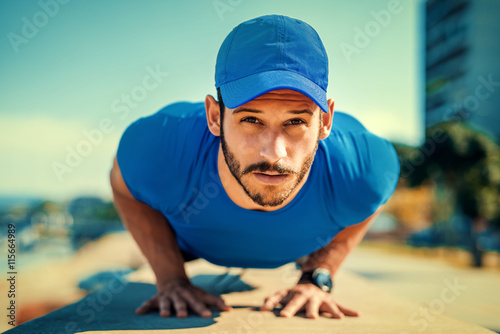 Fitness and sport lifestyle concept Canvas Print