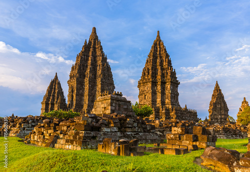 Wall Murals Place of worship Prambanan temple near Yogyakarta on Java island - Indonesia