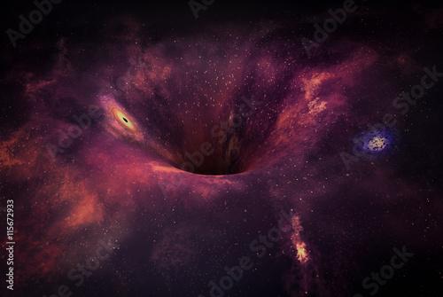 Fototapeta Wormhole in space