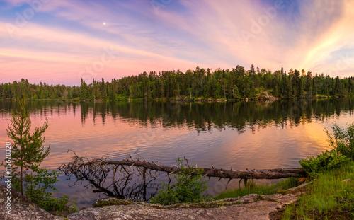 Fototapeta Sunset on Ontario Lake