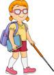 Kid Girl Blind Student