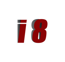 I8 Logo Initial Red And Shadow