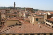 Above the rooftops of Florence and Palazzo Vecchio, Tuscany Italy
