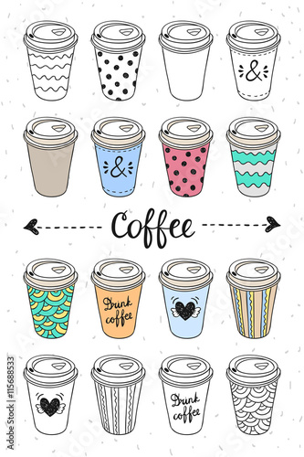 Paper coffee cup vector stock vector. Illustration of drink