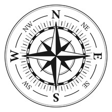 Compass Rose Vector Illustration Icon