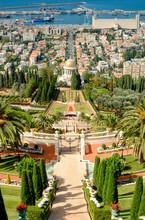 Bahai Gardens In Haifa Israel.