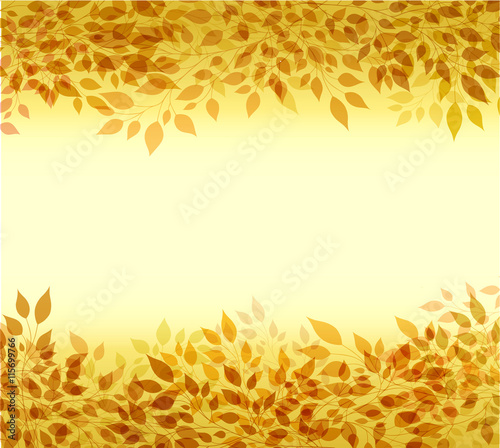 Autumn background branches and leaves - 115699766