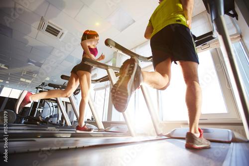 Foto op Plexiglas Fitness Training in gym