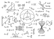 Hand Drawn Physics Formulas Sc...