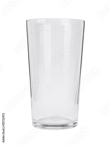 An empty pint glass isolated on a white background Canvas Print