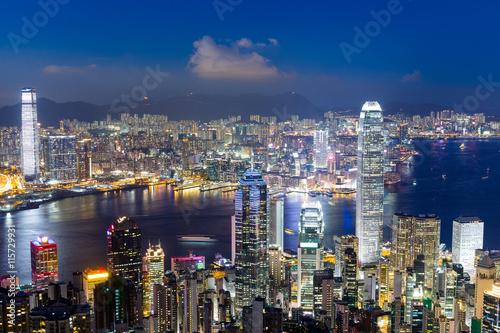 Poster Australie Hong Kong cityscape at night