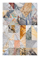 NaklejkaAbstract marble collage