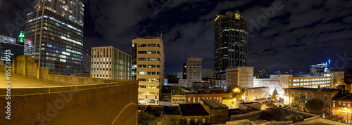 Raleigh, North Carolina at night