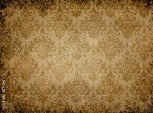 vintage-tekstury-papieru-z-kwiatowymi-wzorami